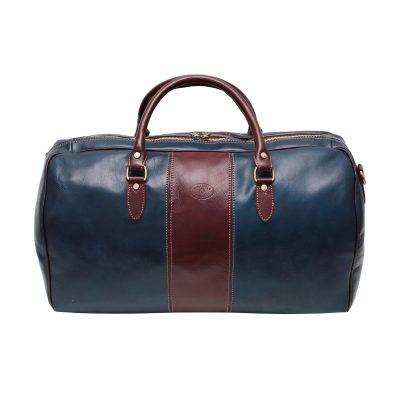 Bolso de viaje cuero Unisex Azul