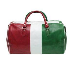 bolso de viaje en cuero italia