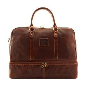 maleta de Viaje en Piel con Doble Fondo en cuero