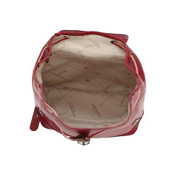 Mochila Piel pequeña Italiana Mujer interior mochilas