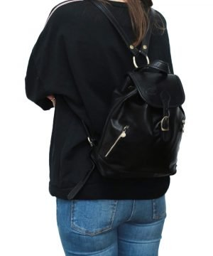 Mochila Piel pequeña Italiana Mujer outfit chica