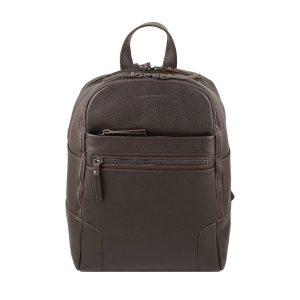 Mochila en Piel mochila de cuero Unisex marrón
