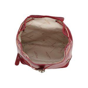 Mochila piel grande italiana interior algodón