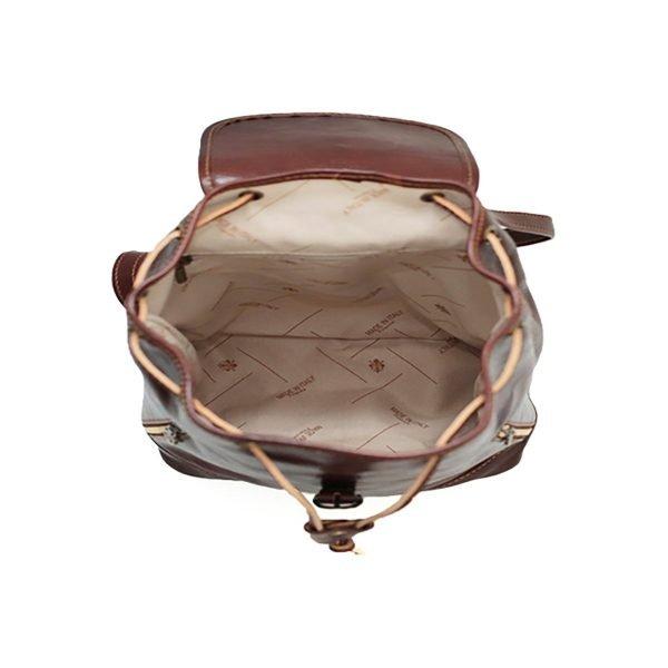 Mochila piel grande italiana interior mochila