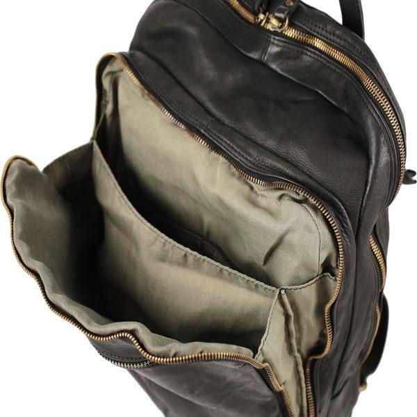 Mochilas Moda Piel Lavada-bolsillo mochila