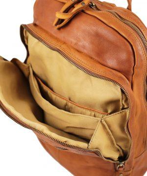 Mochilas Moda Piel Lavada espacio interior mochila cuero