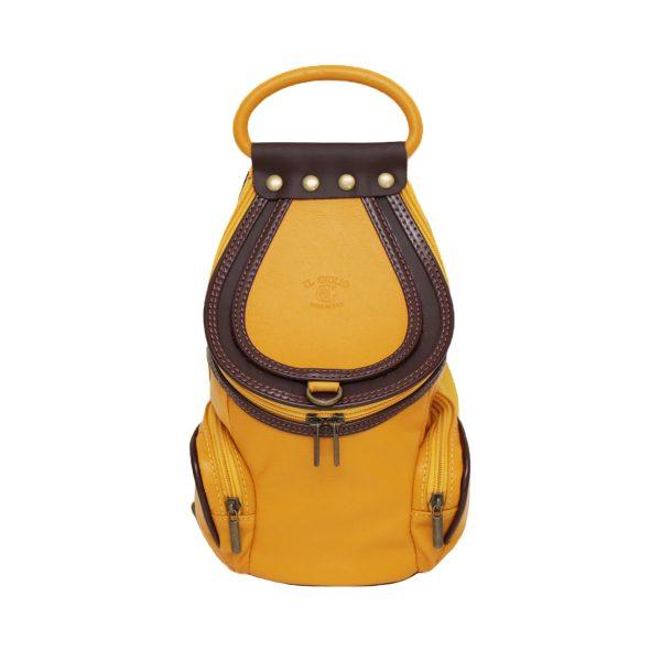 mochila bolso chica amarillo