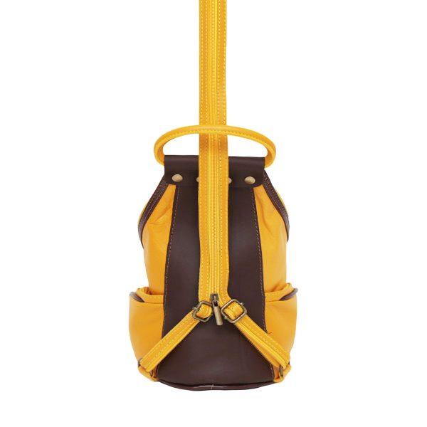 bolso mochila amarillo