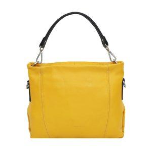 bolso bandolera de diseno italiano amarillo