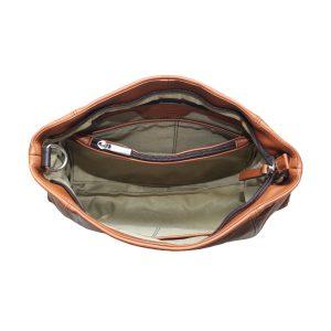 bolso bandolera de diseño italiano natural interior