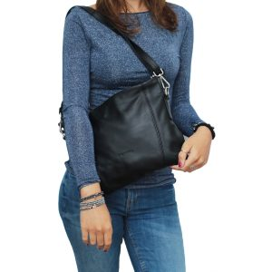 bolso bandolera de diseño italiano negro
