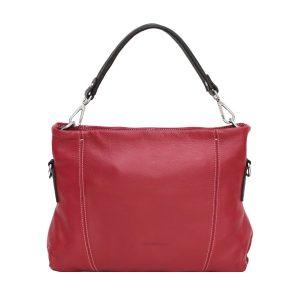 bolso bandolera de diseno italiano rojo