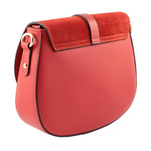 bolso bandolera mujer piel rojo retro