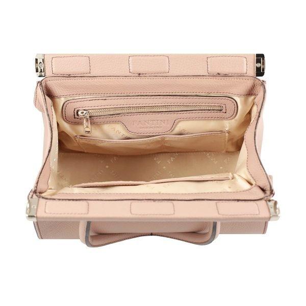bolso de diseno italiano rosa interior