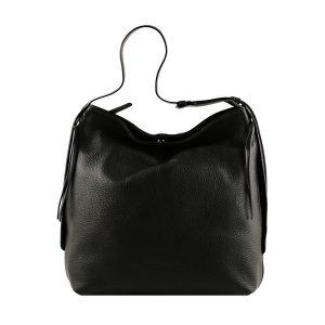 bolso de piel martillada mujer negro