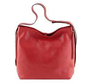 bolso de piel martillada mujer rojo