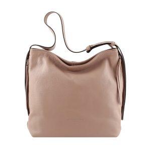 bolso de piel martillada mujer rosa