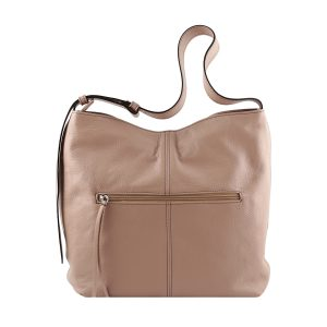 bolso de piel martillada mujer rosa trasera