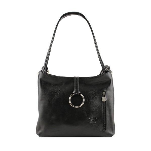 bolso de piel negro mujer