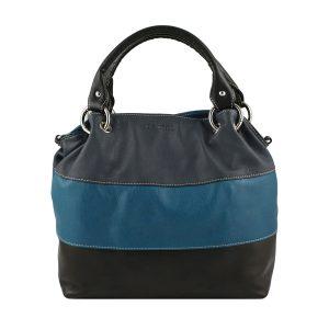 bolso de piel para mujer azul marino