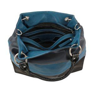 bolso de piel para mujer azul marino moda piel mujer