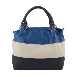 bolso de piel para mujer color azul