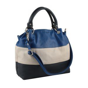 bolso de piel para mujer color azul moda