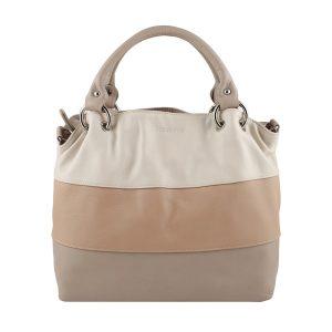 bolso de piel para mujer color beige