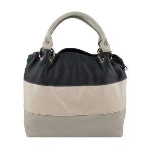 bolso de piel para mujer gris