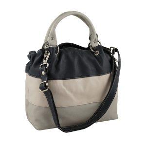 bolso de piel para mujer gris moda