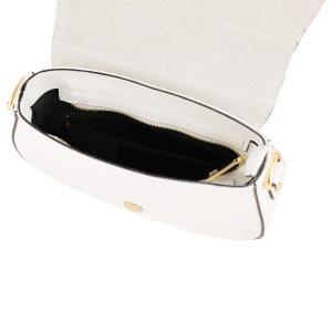 bolso en piel bandolera blanco interior