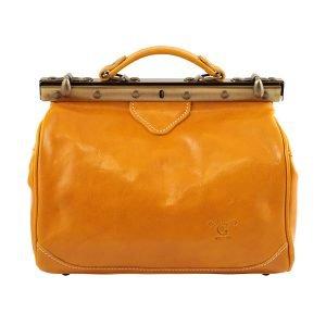 bolso en piel de mujer italianos-amarillo