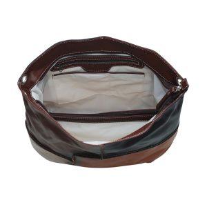 bolso en piel mujer natural interior
