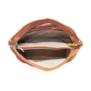 bolso en piel mujer color salmon interior doble