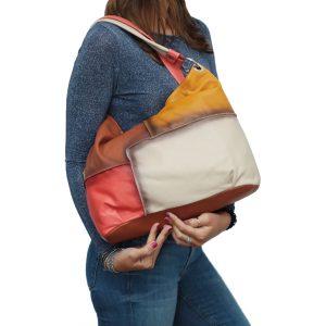 bolso en piel mujer color salmon moda mujer