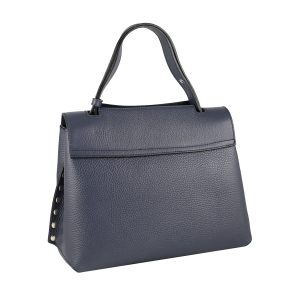 bolso mujer en piel azul marino moda