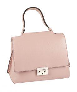 bolso mujer en piel rosa