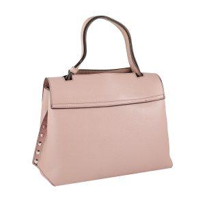 bolso mujer en piel rosa moda
