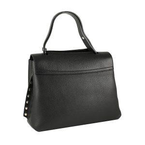 bolso piel negra mujer moda