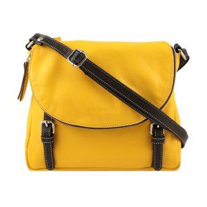 bolso shopper piel de mujer amarillo