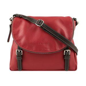 bolso shopper piel de mujer rojo