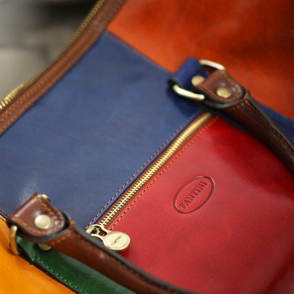 bolso viaje en piel diseño italiano