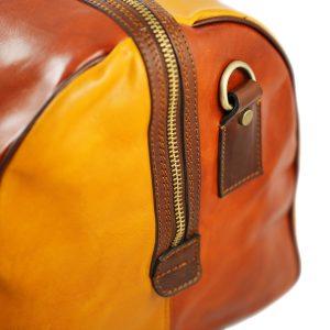 bolso viaje en piel multicolor vintage