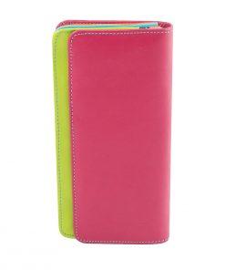 cartera mujer piel con monedero rosa