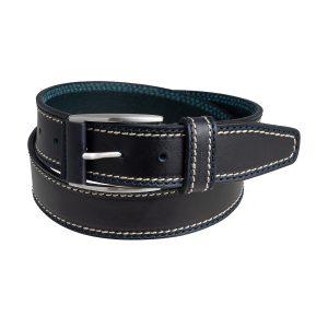 cinturon cuero hombre azul marino