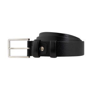 cinturon cuero hombre negro moda