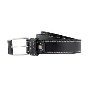 cinturon de cuero hombre negra moda