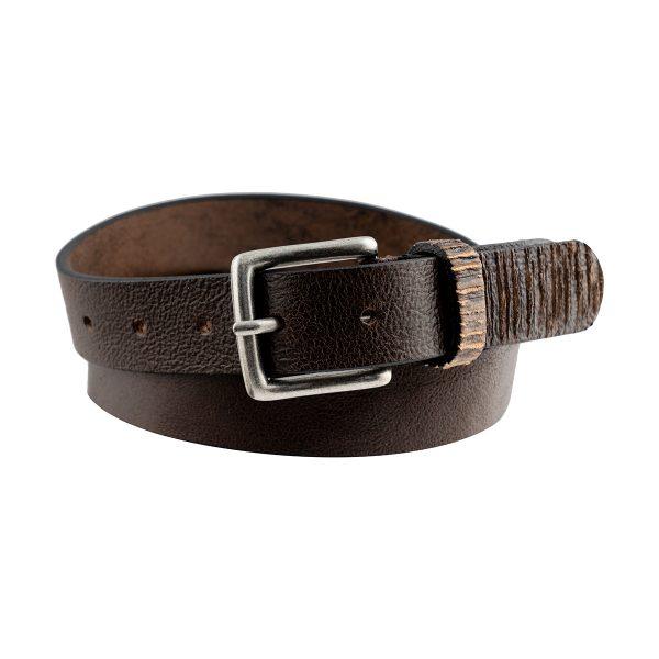 cinturón de cuero marron unisex