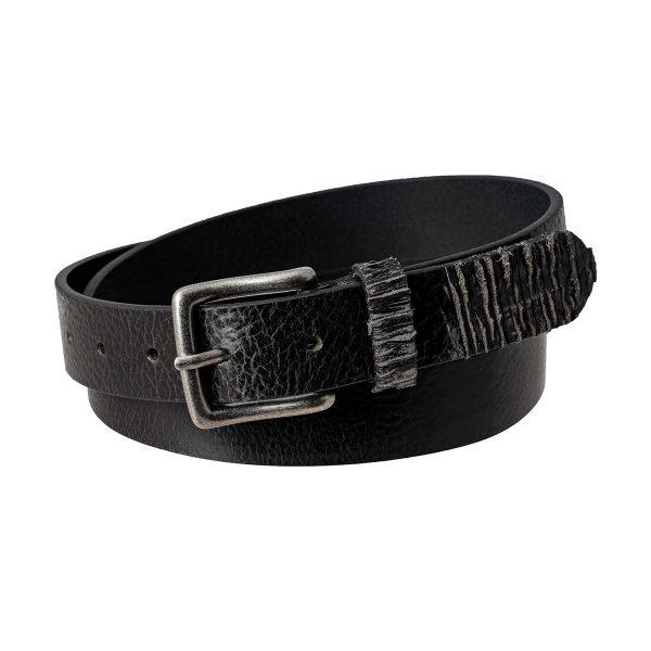 cinturon de cuero negro UNISEX