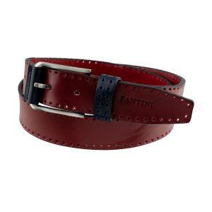 cinturon de cuero para mujer hombre burdeo